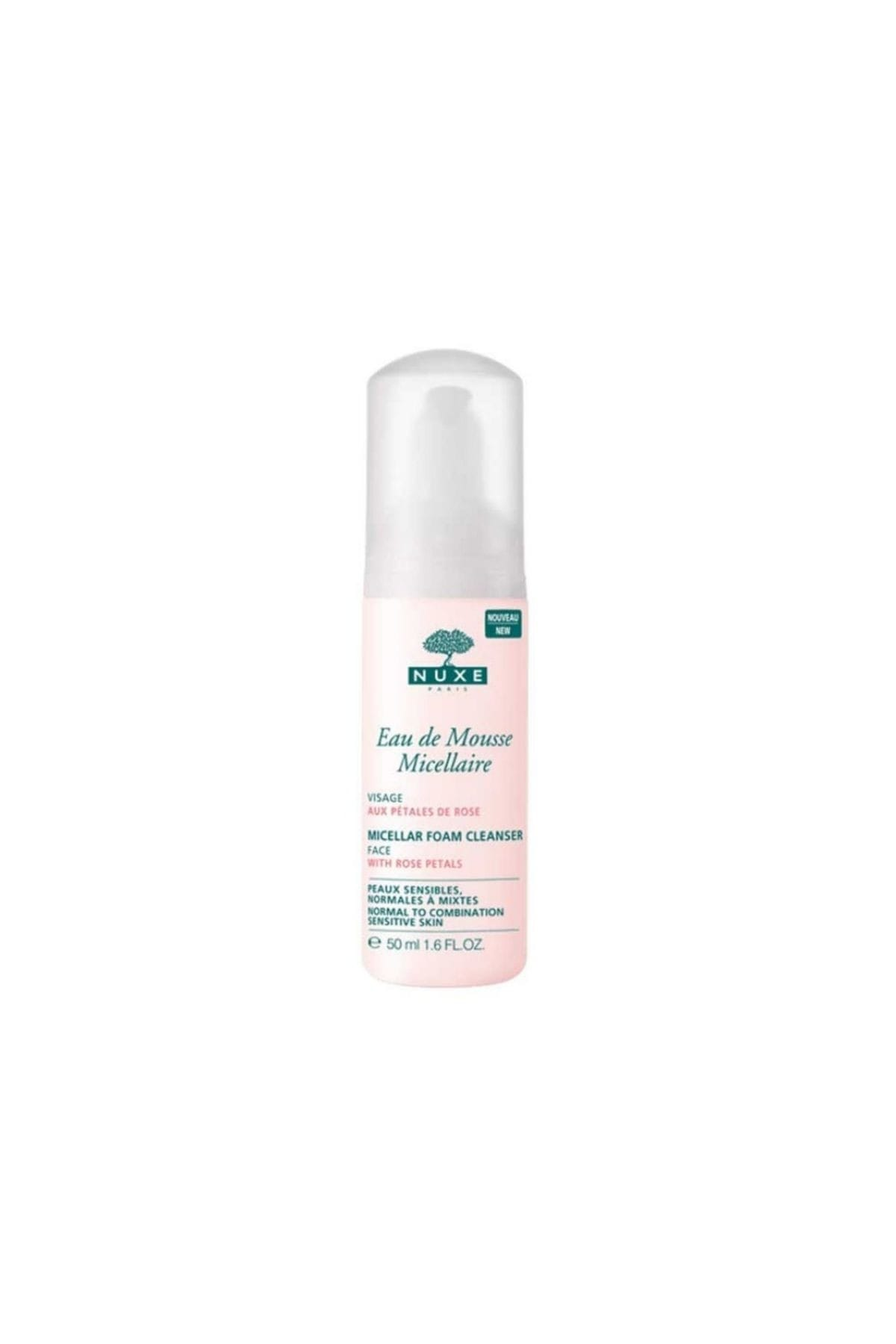 Nuxe Micellar Foam Cleanser with Rose Petals (For Normal to Combination Sensitive Skin) 50ml