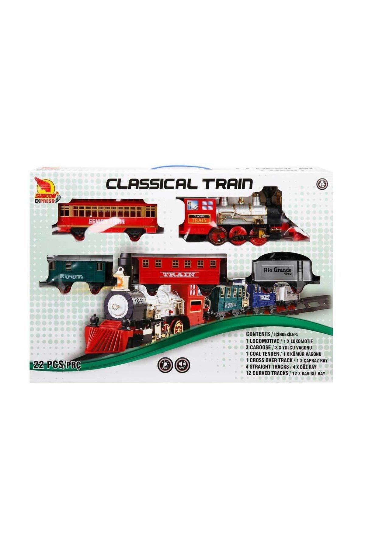 Suncon Klasik Tren Seti Sesli Ve Isikli 22 Parca S01001553 Trendyol