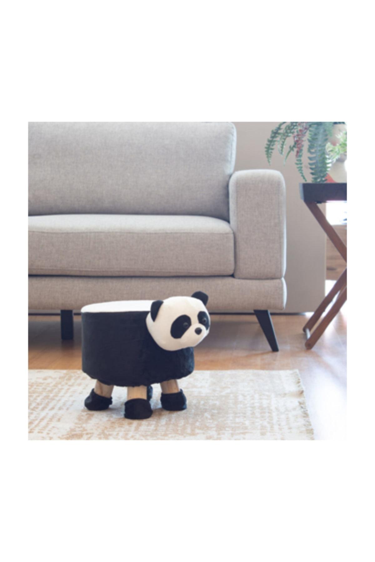 Tmall Home Design Panda Seklinde Puf 28x28 Cm Trendyol